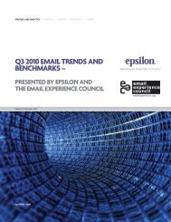 Q3 2010 EmAIL TRENDS AND BENCHmARkS – - Epsilon