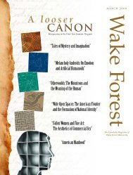 Wake Forest Magazine | March 2008 - Past Issues - Wake Forest ...