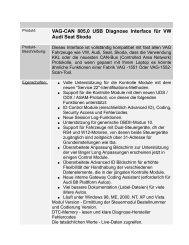 VAG-CAN 805,0 USB Diagnose Interface für VW ... - OBDToolStore