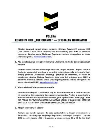 """POLSKA KONKURS NIKE """"THE CHANCE"""" — OFICJALNY ..."""
