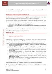 Commissaire au redressement productif - CGPME Paris Ile de France