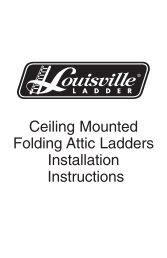 Ceiling Mounted Folding Attic Ladders Installation Instructions