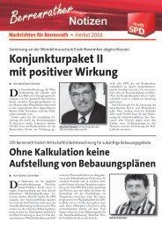 Hürther Impulse Berrenrath 2010 - SPD Ortsverein Hürth