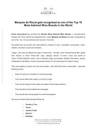 Marqués de Riscal gets recognized as one of the Top 10 Most ...