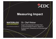 Measuring Impact - Institute for Social Banking
