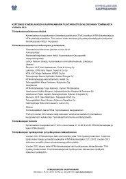 Tilintarkastusvaliokunnan toimintakertomus - Kymenlaakson ...