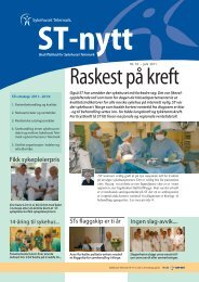 ST-nytt nr. 10, 2011 - Sykehuset Telemark