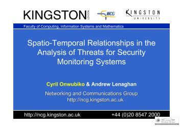Spatio-Temporal Relationships in the Analysis of ... - Research Series