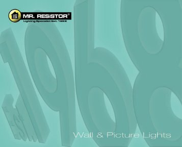 Catalogue - Wall Lights - Mr RESISTOR