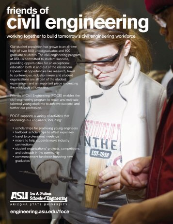 download the brochure - School of Sustainable Engineering and ...