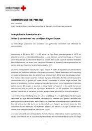 communique de presse - Croix-Rouge luxembourgeoise