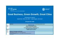 Good Business, Green Growth, Great Cities Preliminary program ...