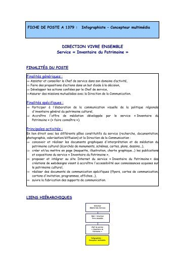 Service Culturel région Poitou Charentes - Infographiste - IIM
