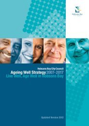 Live Well, Age Well in Hobsons Bay Ageing Well Strategy2007-2017
