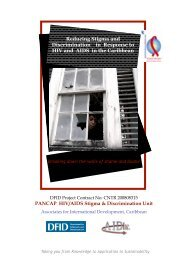 See Stigma Unit booklet - PANCAP- Pan Caribbean Partnership ...