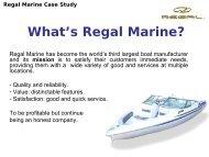 What's Regal Marine?