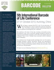 Barcode Bulletin, 2013 special edition - The Fifth International ...