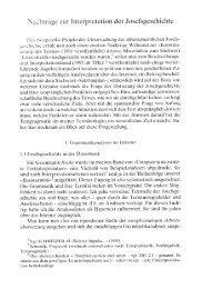 Nachträge zur Interpretation der Josefsgeschichte