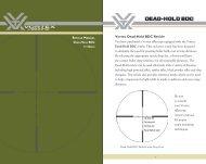 Vortex Dead-Hold BDC Reticle - Mellivora