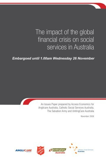 The impact of the global financial crisis on social services in Australia