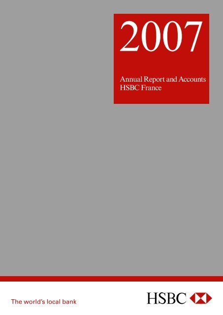 Annual Report and Accounts HSBC France