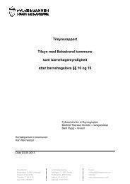 Tilsynsrapport frå Balestrand kommune - Fylkesmannen.no