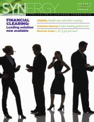 FINANCIAL CLEARING: - Syniverse Technologies