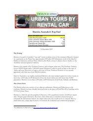 Darwin: Australia's Top End (20071231) - Urban Tours by Rental Car