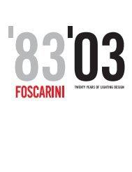 8303TWENTY YEARS OF LIGHTING DESIGN - Foscarini