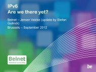 IPv4/IPv6 - Belnet - Events