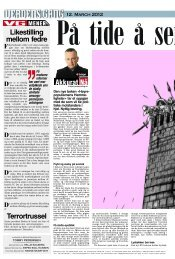 Frithjof Jacobsens kommentar i VG 12.03.12 - Spartacus Forlag AS