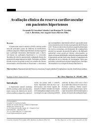 Avaliação clínica da reserva cardiovascular em pacientes hipertensos