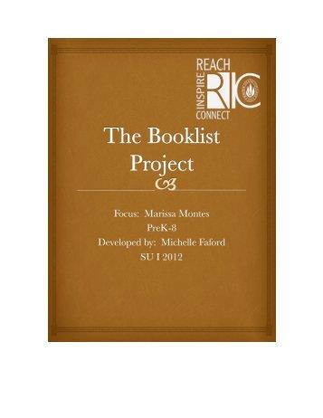 Montes, Marissa Author Study Booklist for Grades PreK-8.pdf - RITELL