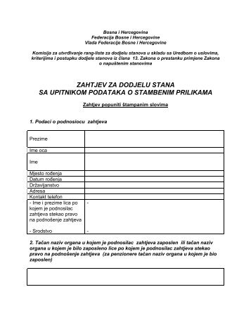 Bosna i Hercegovina - Vlada Federacije Bosne i Hercegovine