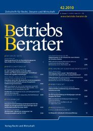 www.betriebs-berater.de Zeitschrift für Recht, Steuern und Wirtschaft ...