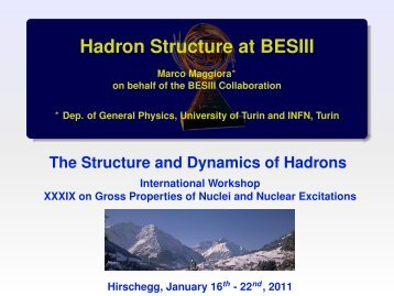 Hadron Structure at BESIII