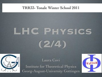 TRR33- Tonale Winter School 2011 - The Dark Universe