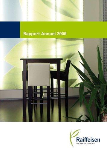 Rapport Annuel 2009 - paperJam