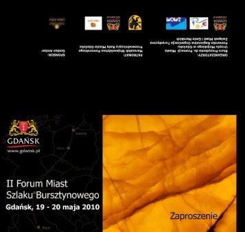ii forum miast szlaku bursztynowego - ZMiGM