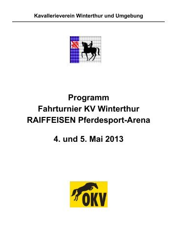Programm und Startlisten Fahrturnier Winterthur - Kavallerieverein ...