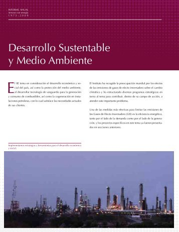 Desarrollo Sustentable y Medio Ambiente - Instituto de ...