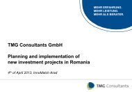 Planning and Implementation of investment projects in Romania