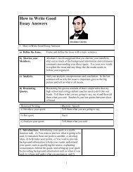 How to Write Good Essay Answers - Mark Saiki