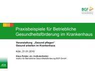 Vortrag Pelster - Institut für Betriebliche Gesundheitsförderung