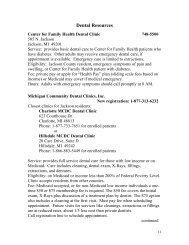 Dental Resources - Jackson County, Michigan