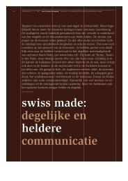 swiss made: degelijke en heldere communicatie - SOGOOD Design