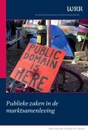 Publieke zaken in de marktsamenleving - Wetenschappelijke Raad ...
