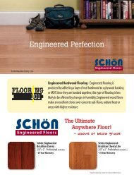Schön Engineered Catalog Page - Lumber Liquidators