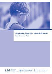 Individuelle Förderung – Begabtenförderung - Stiftung Bildung zur ...