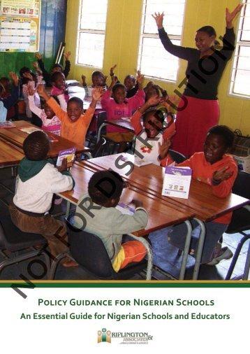 Policy Guidance for Nigerian Schools - Riplington Associates